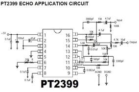 Kit 5 Chip Ci Pt2399 Dip 16 Echo Processador Original