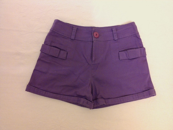 Short Coleccion 47 Street De Verano En Raso Color Purpura.