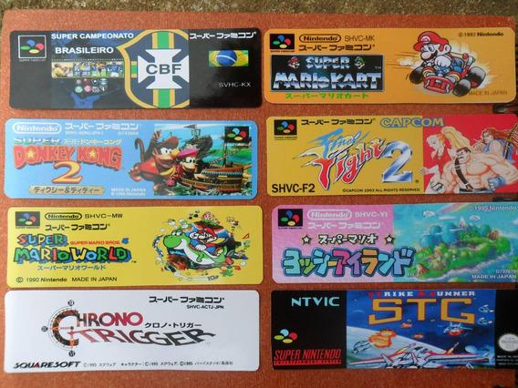 10 Labels - Etiquetas Para Cartuchos Super Famicom Jap/euro