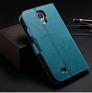 Capa Case Carteira Couro(s) Galaxy S4 Kit 3und Promoçâo