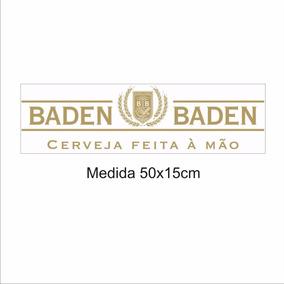 Adesivos De Parede, Geladeiras, Cerveja Baden Baden 50x15cm