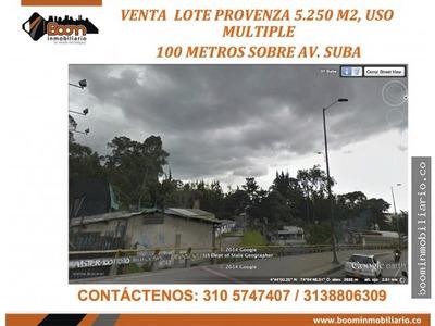 **venta Lote Suba Provenza 5.250 M2