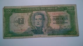 Nota De Quinientos Pesos Do Uruguay