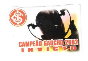 Internacional 2002- Adesivo Plastico ( Com Cola)