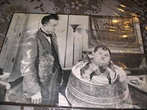 Lamina Foto Del Gordo Y El Flaco P Colgar Cuadro Antiguo