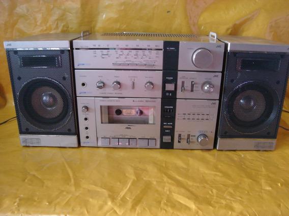 Micro-system Jvc - Pc-3jw - Entrada Phono E 2 Aux - 4fx - Ok