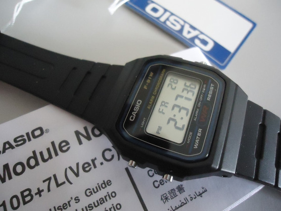 Relogio Casio F91 Série Prata Digital Tradicional