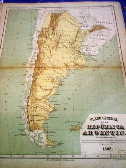 Mapa Republica Argentina 1892
