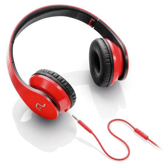 Fone De Ouvido Headphone Com Microfone P/ Celular - Vermelho