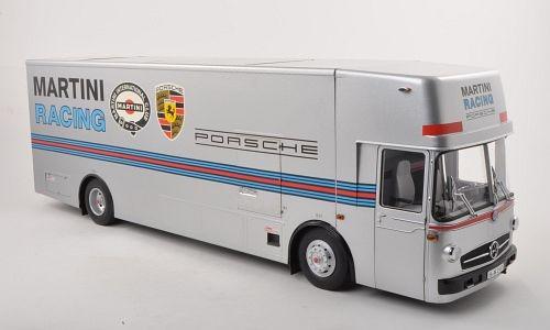 Miniatura Caminhão Porsche Martini Transporter Schuco 1/18
