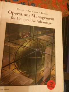 Libro Operations Management For Competitive Advantages