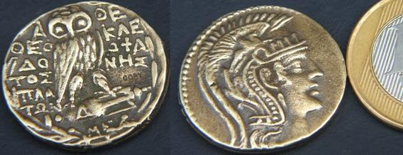Grécia Antiga- Athenas E Coruja - Réplica 200 A.c. - Rara !