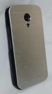 Capa Case Motorola Moto G2 Xt1068 Metal Prateada