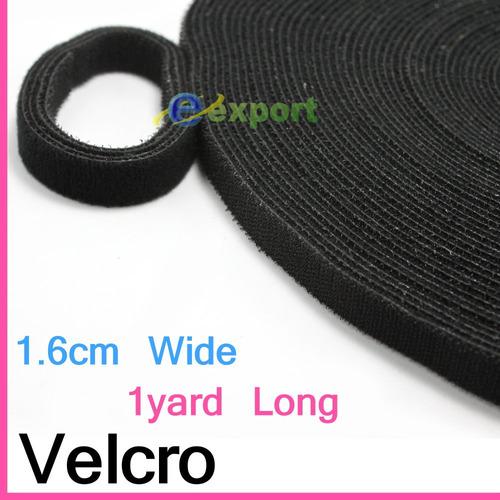 Rollo Velcro Negro Adhesivo Velcro  Sew Hook & Loop