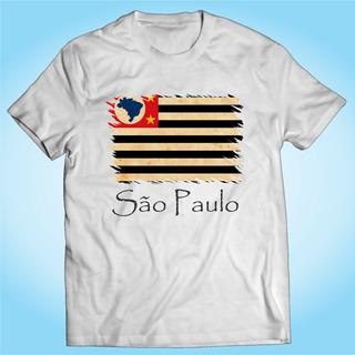 Camisa São Paulo - Bandeira - Brasil - Personalizada