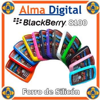 2x1 Forro Silicon Blackberry Pearl 8100 Perla Estuche Goma