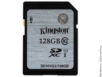 Cartao Kingston 128gb Sdxc (classe 10) Uhs-i Sd10vg2/128gb