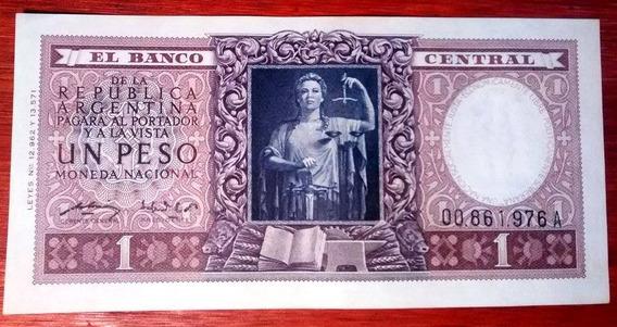 1952 - 1 Peso Moneda Nacional - A - B1908 - Justicia