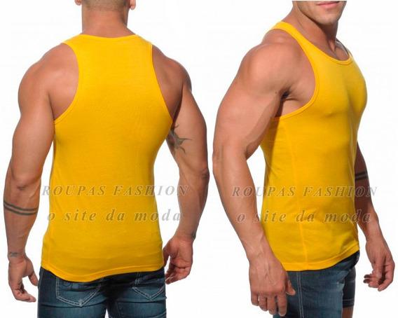 Regata Camiseta Academia Musculação Masculina Gola V Careca Redonda