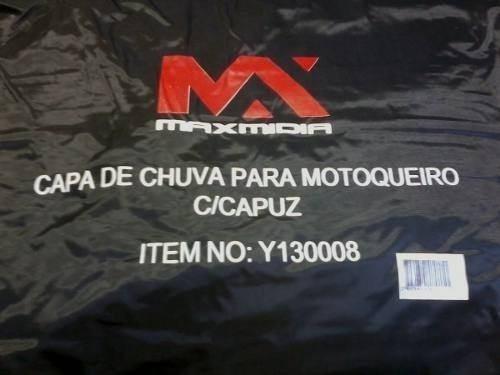 Capa De Chuva Para Motoqueiro Com Capuz E Calça Tamanho M