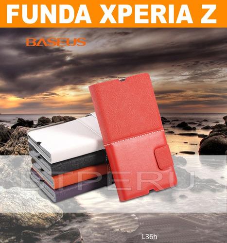 Flip Cover Funda Para Sony Xperia Z L36h C6603 Protector