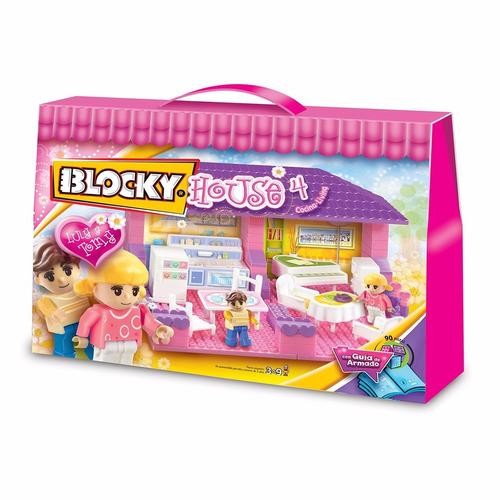 Blocky House Living Y Cocina 90 Piezas Set De Bloques