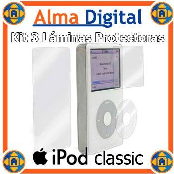 Kit 3en1 Protector Pantalla Anverso iPod Classic Video +paño