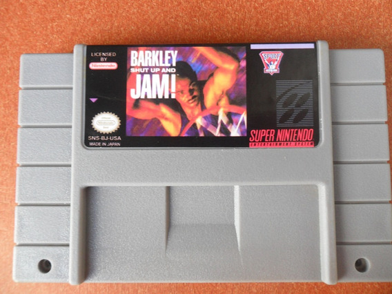 Barkley Shut Up And Jam - Super Nintendo Snes- Basquete