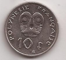 Polinesia Francesa Moneda De 10 Francos Año 2008 !!!