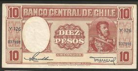 Chile 10 Pesos 1947 P.111 S/fe Cédula (talleres) - Tchequito