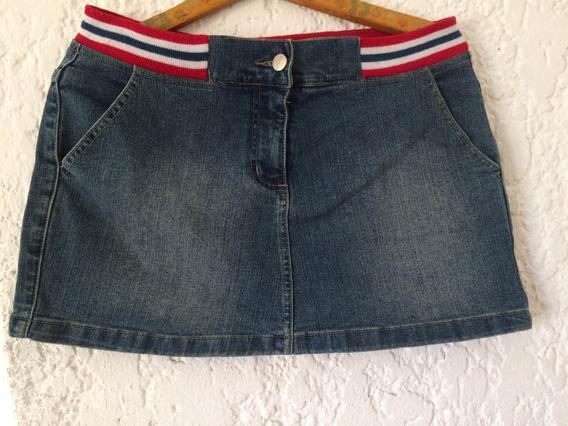 Minifalda De Jean Talle M/l