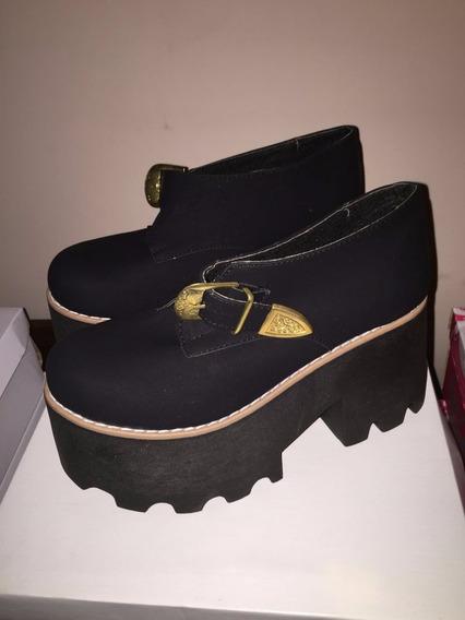 Zapatos Suela Tractor Altas Botas Mujer Botas y Botinetas
