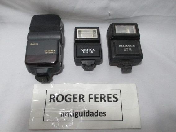 Lote Com 3 Flash Para Camera Fotografica Antiga