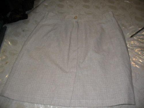 Pollera Minifalda De Vestir De Verano Lino Orix Talle 3 Natu