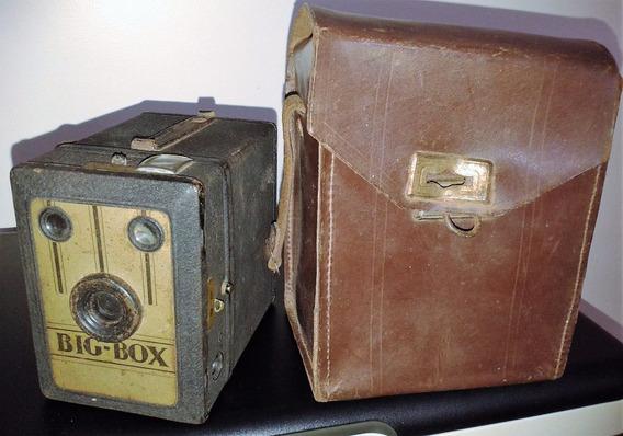 Camera Maquina Fotografica Big Box Exacta Raridade Unica Ml