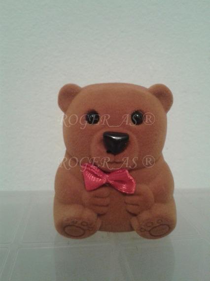 Caixa De Veludo Modelo Urso Infantil Para Par Brincos / Anel