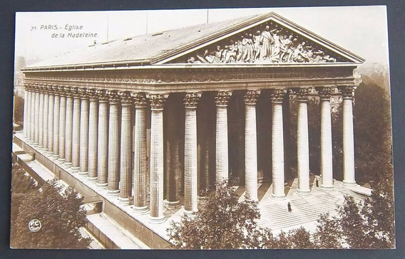 Postal Francia Paris Iglesia De La Magdalena Nueva Exc