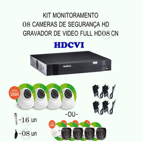 Kit Intelbras Hdcvi 08 Cameras 720p Hd Ir Dvr 08 Canais Etc