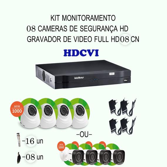 Kit Intelbras Hdcvi 08 Cameras 720p Hd Ir Dvr 08 Canais Etc