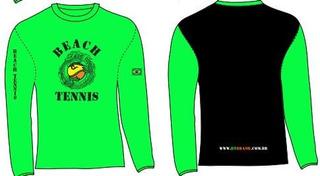 Camiseta Manga Longa De Beach Tennis Com Proteção 50+ Uv
