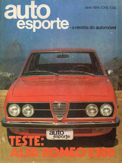Auto Esporte Nº114 Alfa Romeo 2300 Vw Sp2 Karmann-ghia Tc