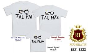 Camisetas Harry Potter Kit Com 3 Unidades Pai, Mãe, Filho(a)