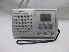 Radio Am E Fm Coby Digital Portatil Relogio E Alarme