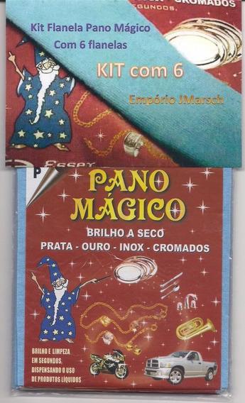 Kit Flanela Pano Magico 6 Flanelas Limpa Ouro Prata Metal Pq