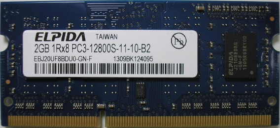 Memoria Notebook Apple 2gb Ddr3 Pc3-12800 Ebj20uf8bdu0-gn-f