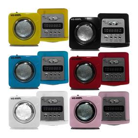 Mini Caixa De Som Portátil Radio Fm Sd Card Usb P2