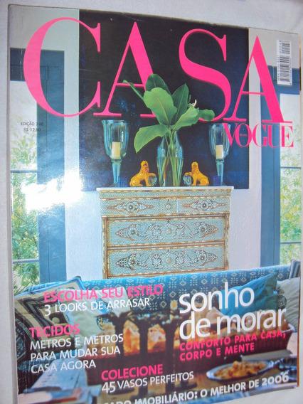 Revista Casa Vogue / 248 Sonho De Morar (sebo Amigo)