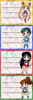 Etiquetas De Colegio De Sailor Moon Serena Tsukino Marte