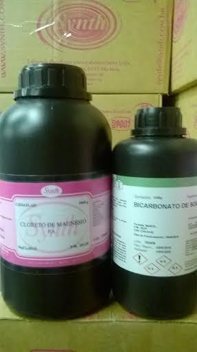 Bicarbonato Sódio Pa 1kg + Cloreto Magnesio Synth Pa 1kg
