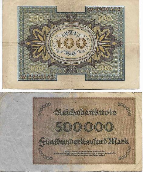 Lote 2 Billetes Alemania Antiguos. Palermo